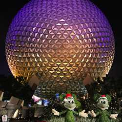 Epcot Main entrance decorations for 2009