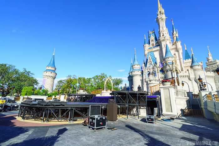 Preparations for the ABC TV specials at the Magic Kingdom