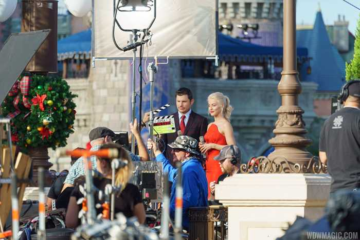 Shooting the ABC TV specials at the Magic Kingdom with Julianne Hough and Nick Lachey