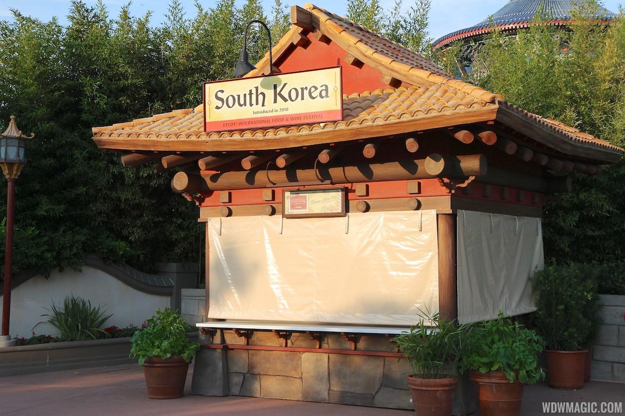 2012 Food and Wine Festival kiosks setup