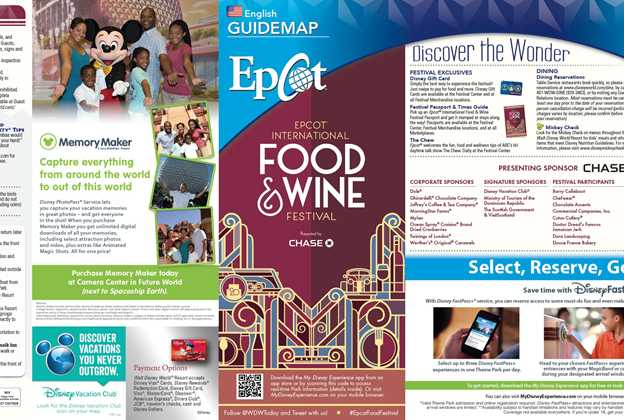 2015 Epcot International Food and Wine Festival Guide Map