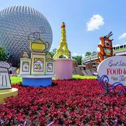2017 Epcot International Food and Wine Festival main entrance display
