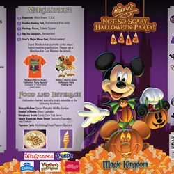 Mickey's Not-So-Scary Halloween Party guide map 2013