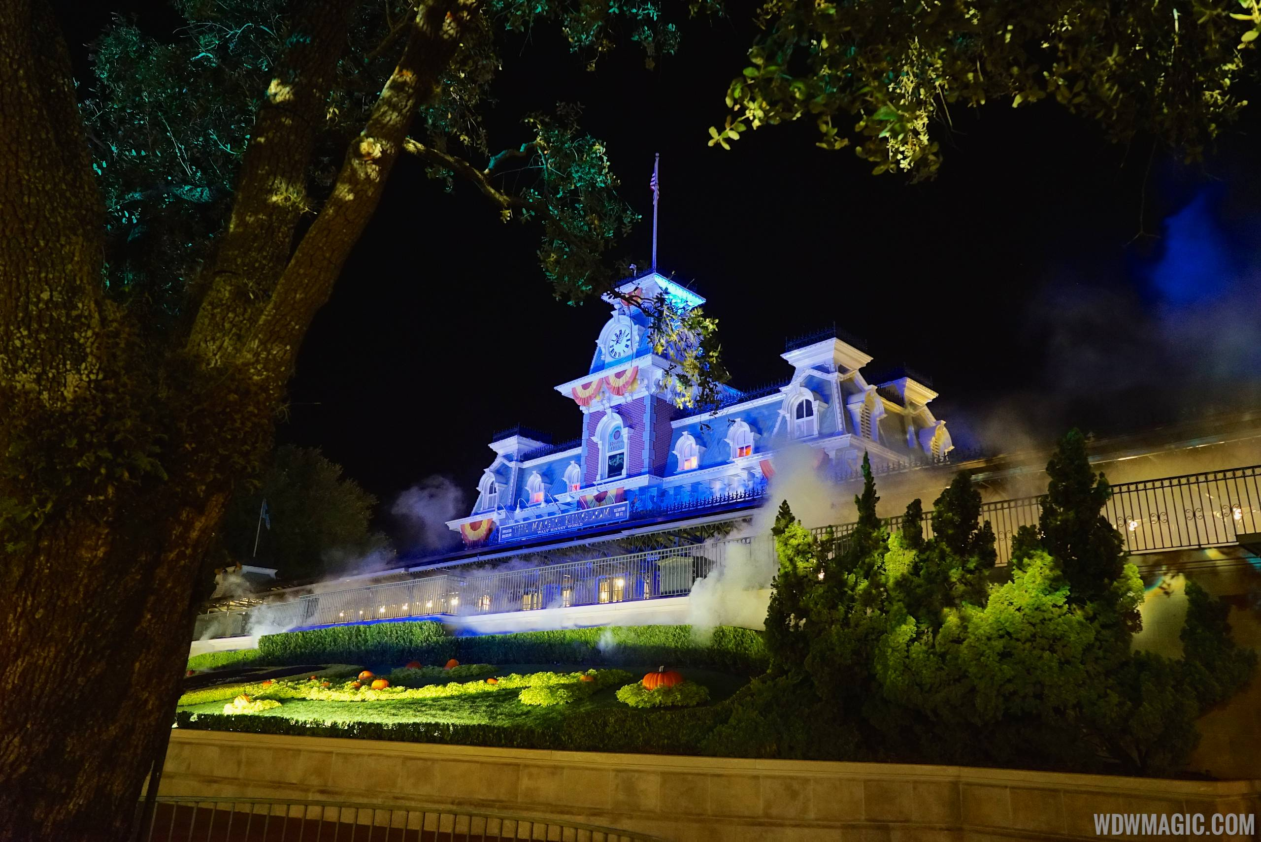 main street train station during not so scary halloween party