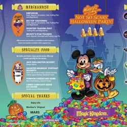 Mickey's Not-So-Scary Halloween Party 2017 guide map