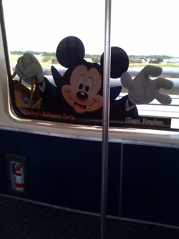 Mickey's Not-So-Scary Halloween Party on the Orlando International Airport monorail