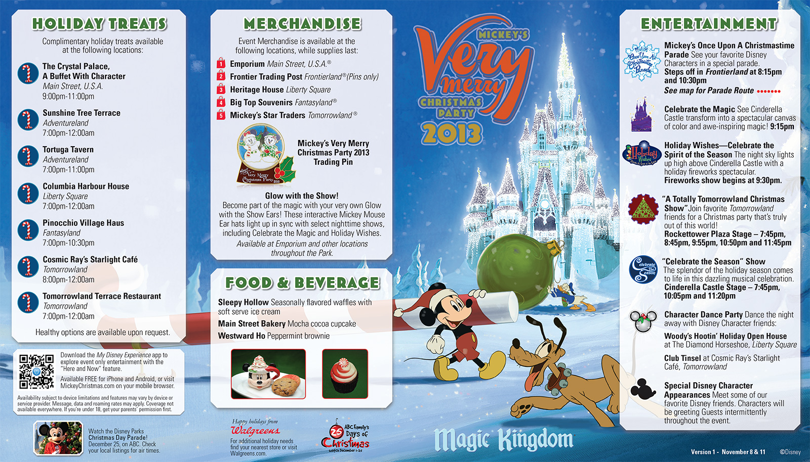 Mickey's Very Merry Christmas Party 2013 guide map - Photo 1 of 2
