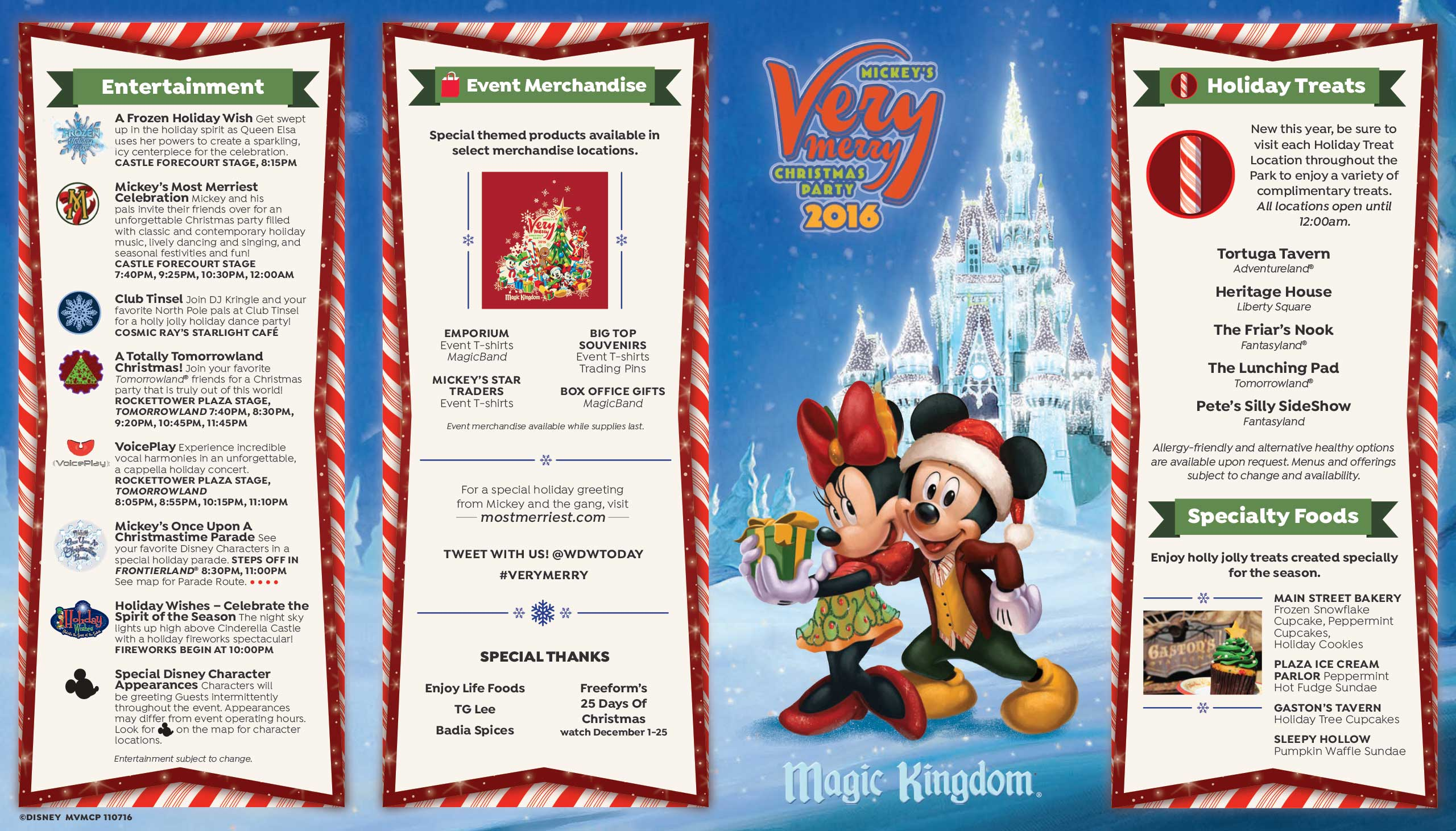 Mickey's Very Merry Christmas Party 2016 guide map - Photo 1 of 2
