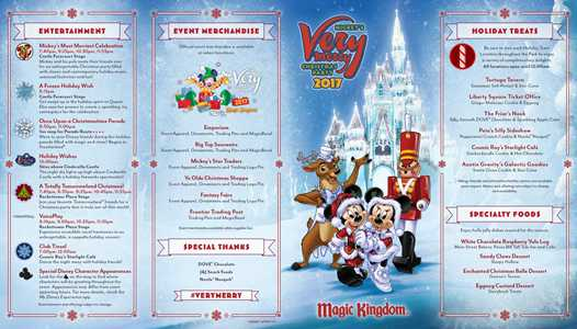 PHOTOS - 2017 Mickey's Very Merry Christmas Party guide map