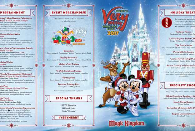 Mickey's Very Merry Christmas Party 2017 guide map