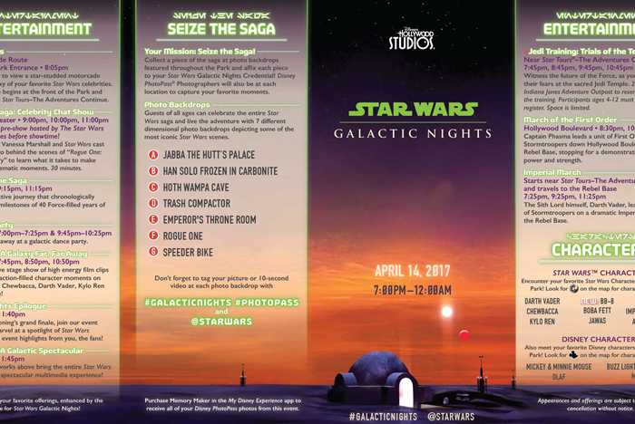 Star Wars Galactic Nights guide map
