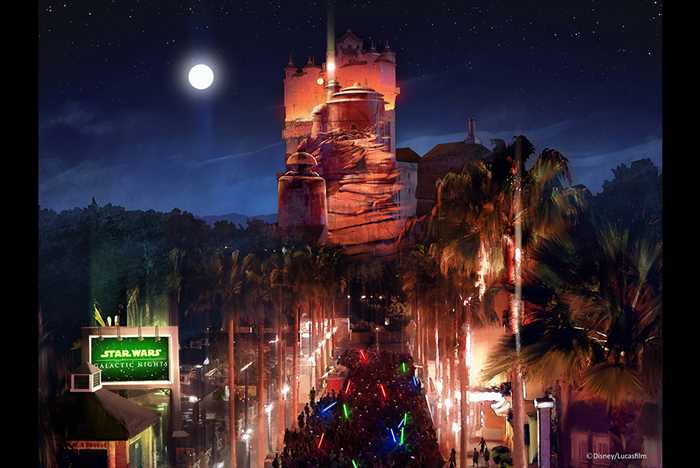 Tower of Terror Star Wars Projection concept art