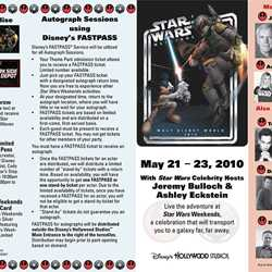 2010 Star Wars Weekends guide map