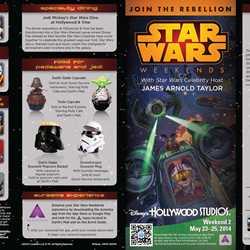 2014 Star Wars Weekends May 23 - 25 Weekend 2 guide map