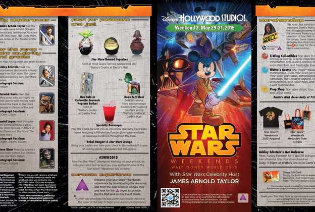 2015 Star Wars Weekends May 29-31 Weekend 3 guide map