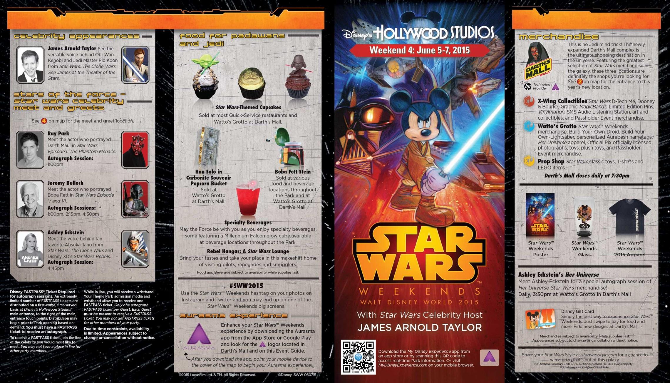 2015 Star Wars Weekends June 5 - 7 Weekend 4 guide map