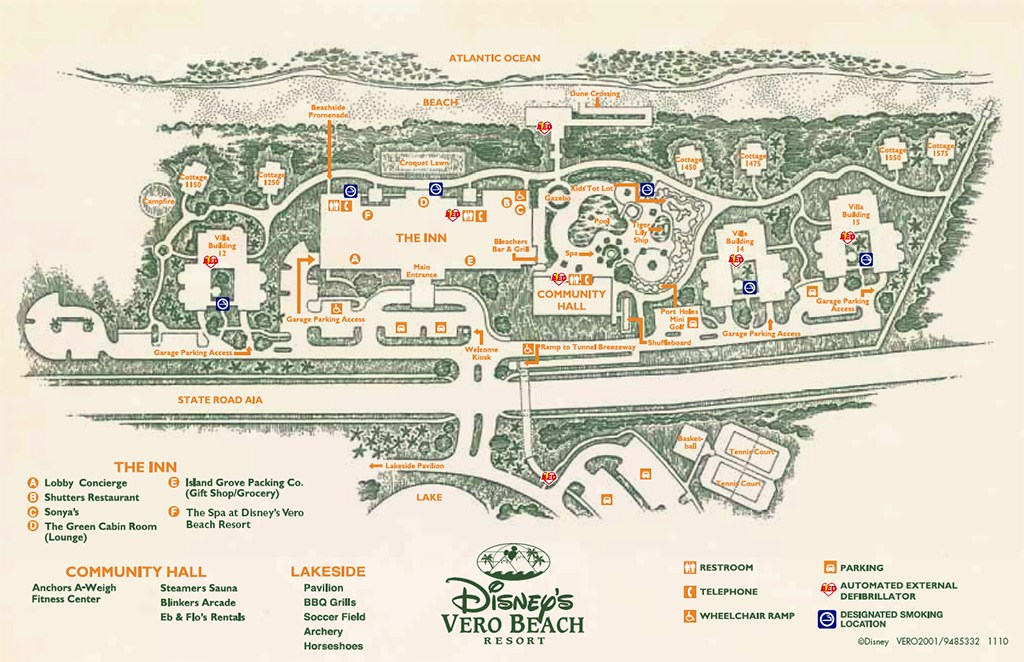 Disney's Vero Beach Resort Map