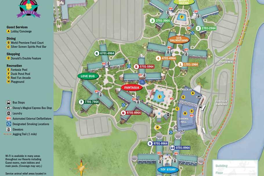 New Look 2017 Resort Hotel Maps