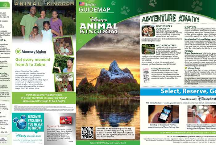 January 2016 Walt Disney World Park Maps