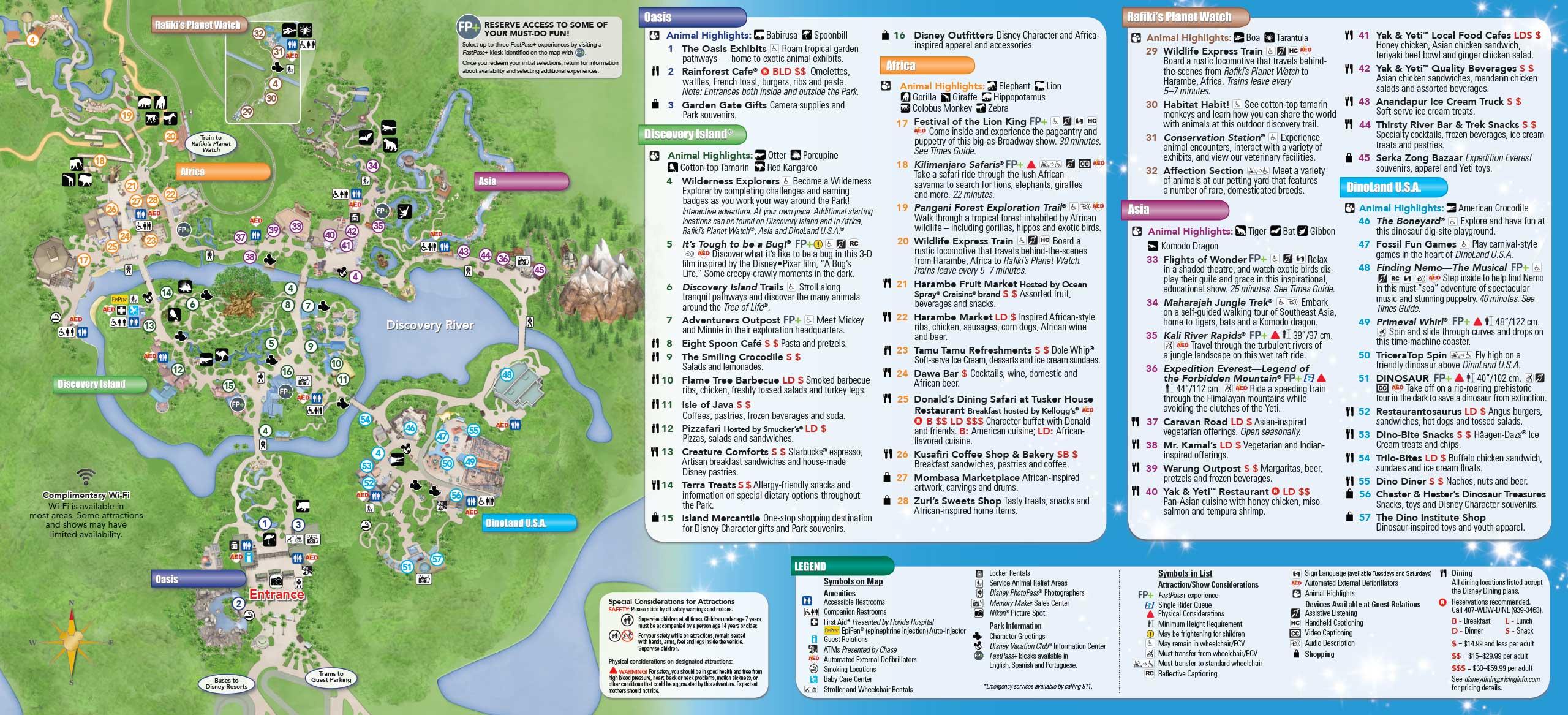 Collection Printable Map Of Disney World Animal Kingdom Photos ... on