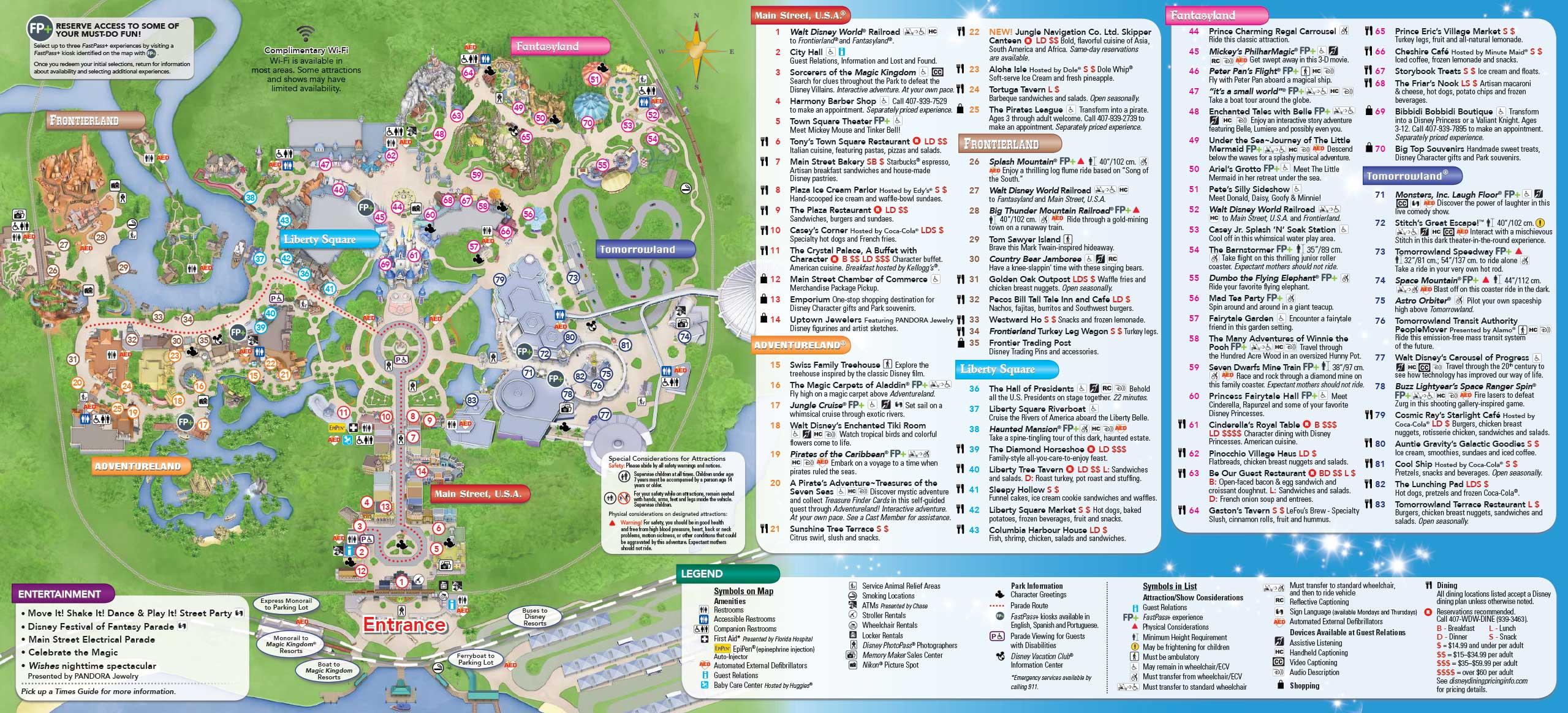 June Walt Disney World Park Maps Photo Of - Us open grounds map 2017