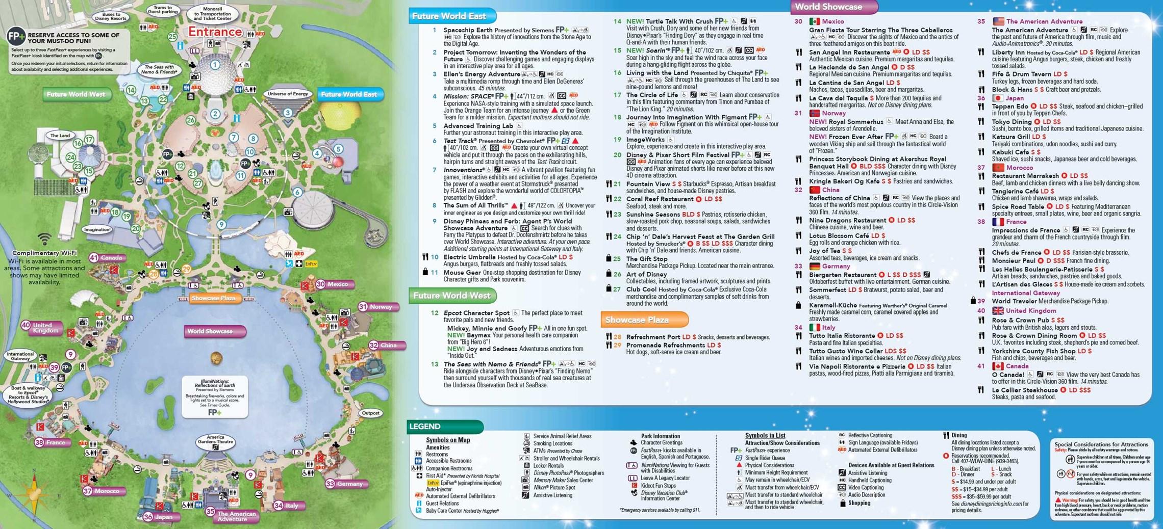 June 2016 Walt Disney World Park Maps