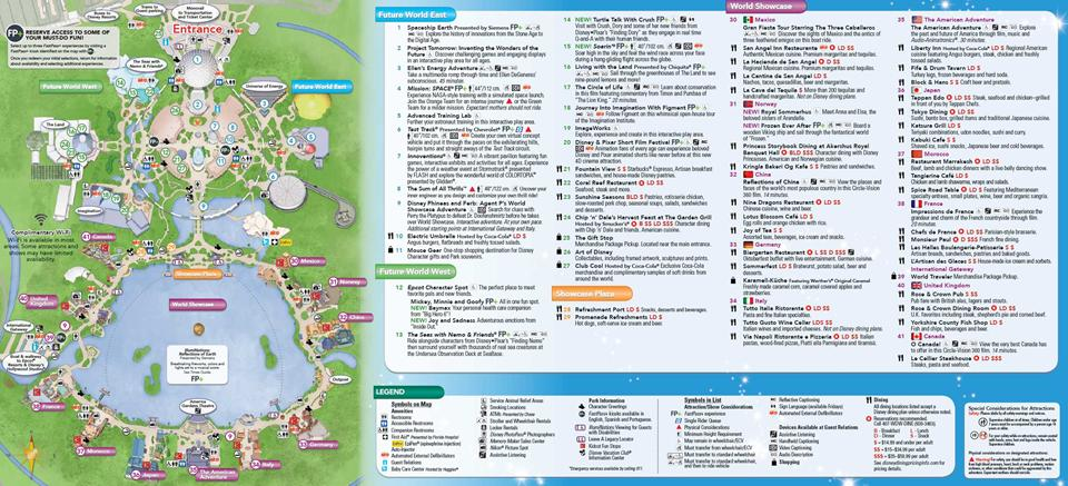 June 2016 Walt Disney World Park Maps  Photo 4 of 4