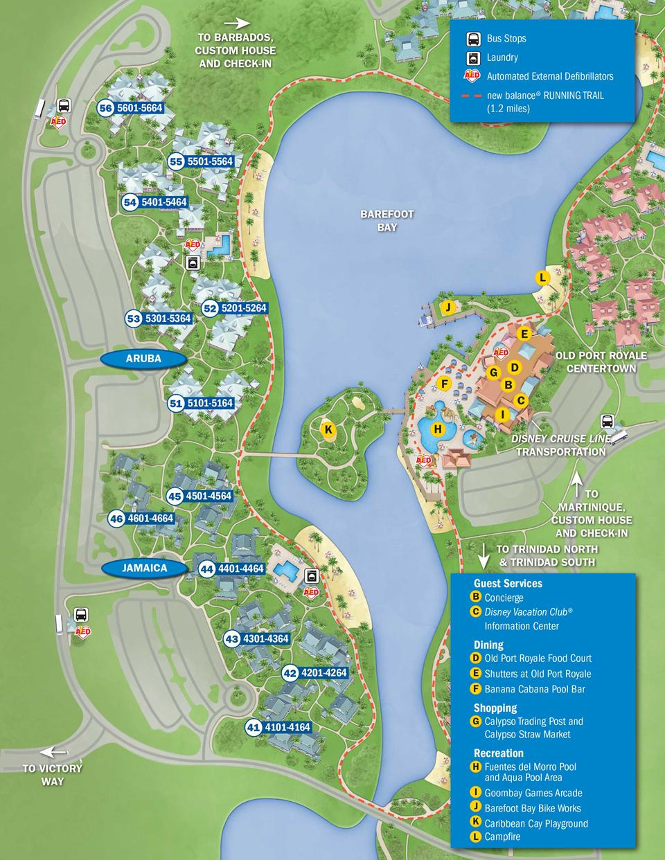 April Walt Disney World Resort Hotel Maps Photo Of - Caribbean map aruba