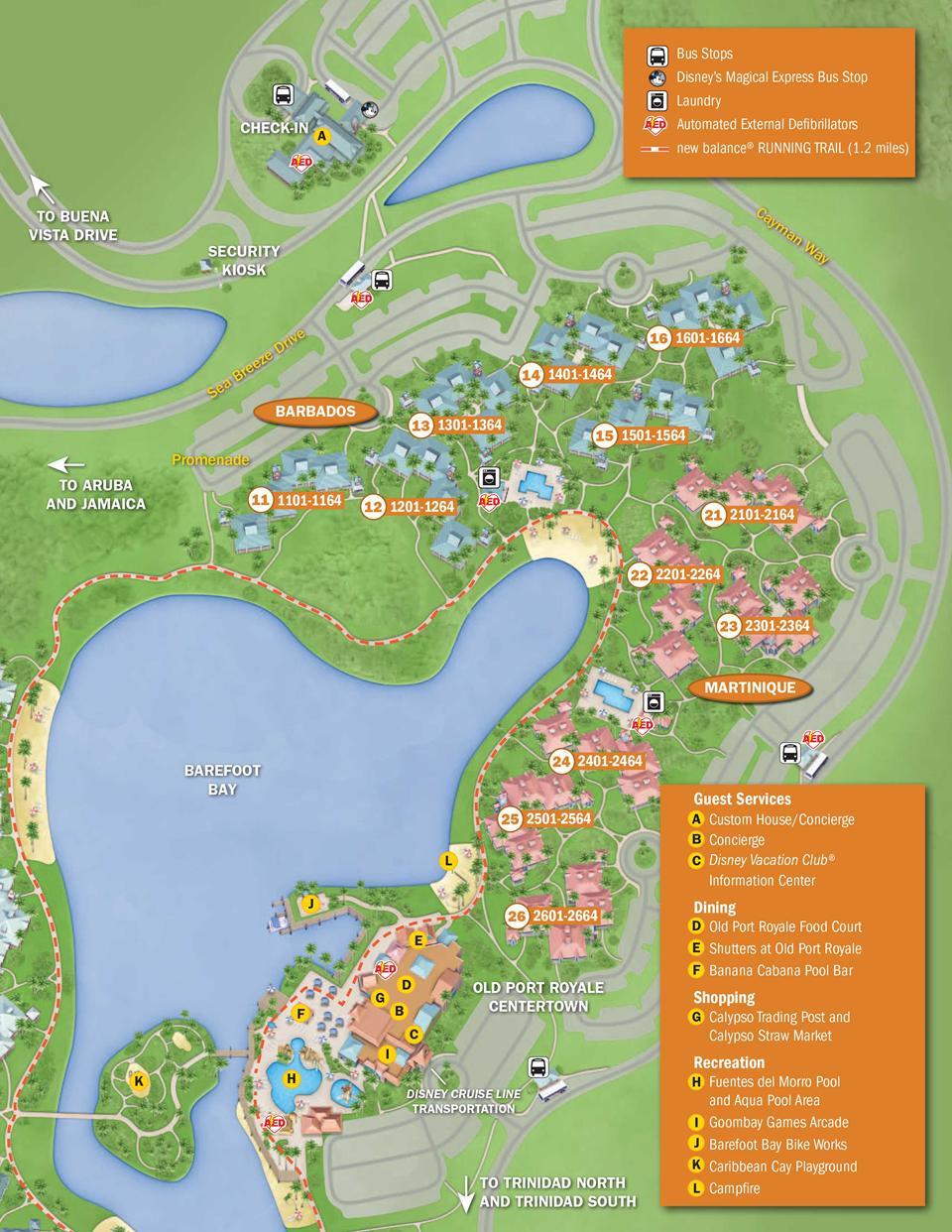 disney's caribbean beach resort map  barbados. april  walt disney world resort hotel maps  photo  of