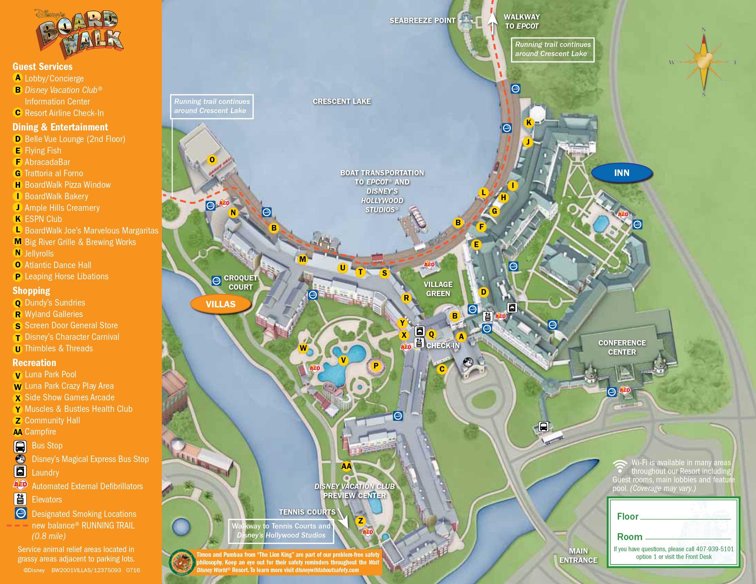 April 2017 Walt Disney World Resort Hotel Maps Photo 18 Of 33: Disney World Hotels Map At Slyspyder.com