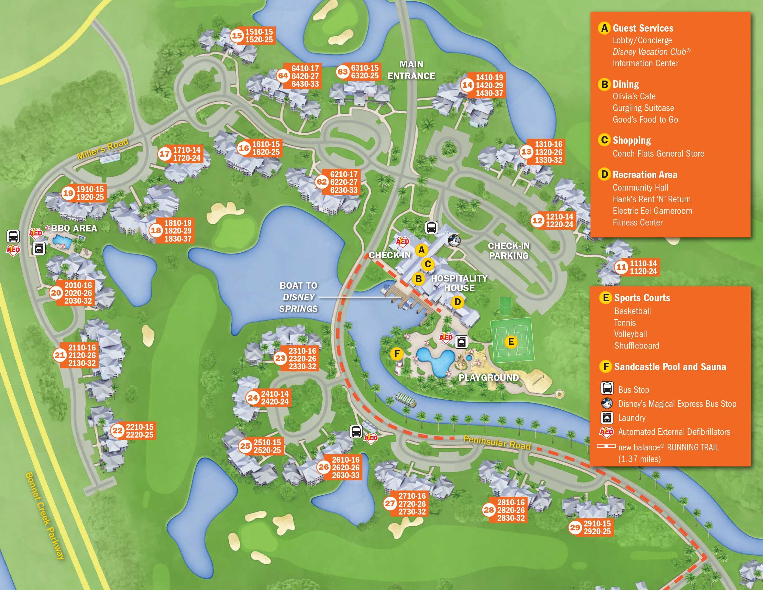 April 2017 Walt Disney World Resort Hotel Maps Photo 27 Of 33: Disney Springs Hotels Map At Slyspyder.com