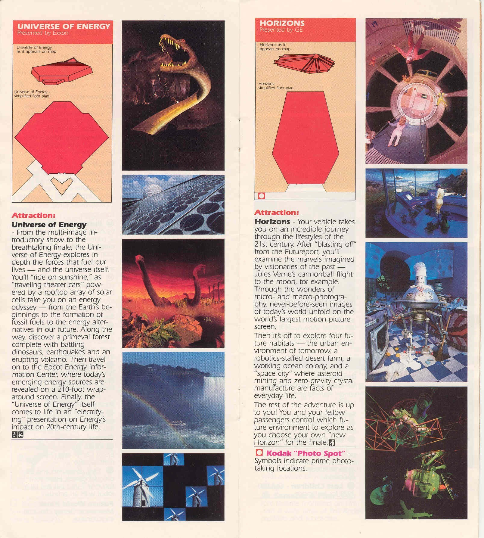 Epcot Center Entertainment Guide 1989