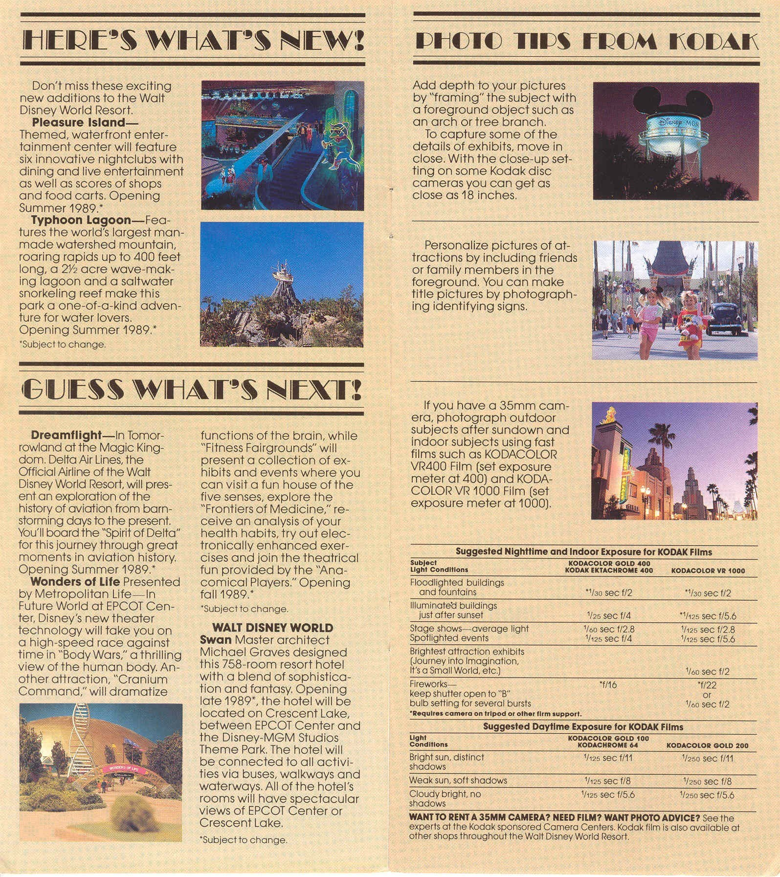 Disney-MGM Studios Guide Book 1989