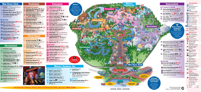 Park Maps 2009 Photo 3 Of 4: Map Of Magic Kingdom Orlando At Slyspyder.com