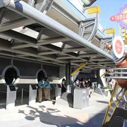 FastPass+ kiosks in Tomorrowland