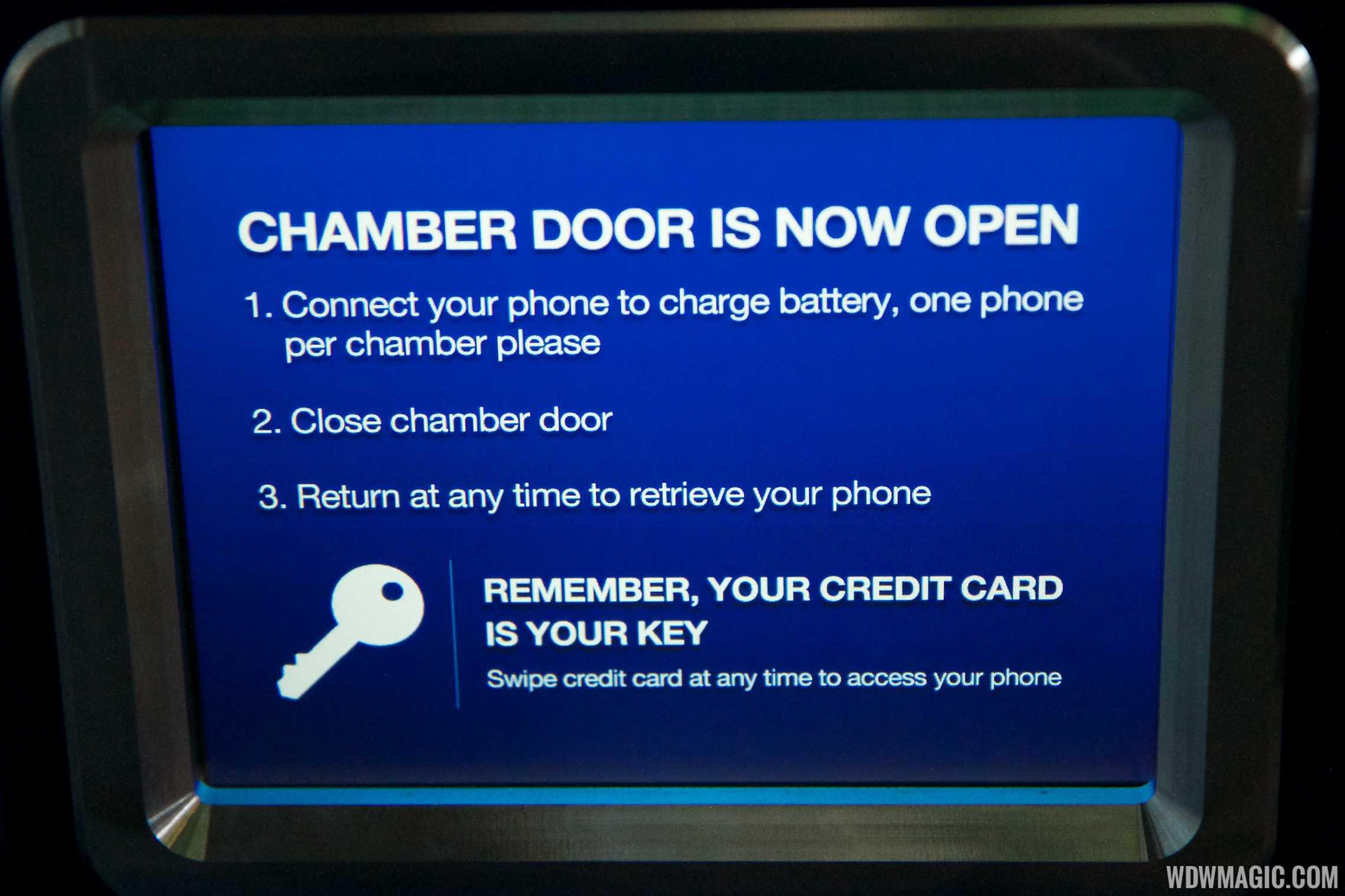 Door opening instructions