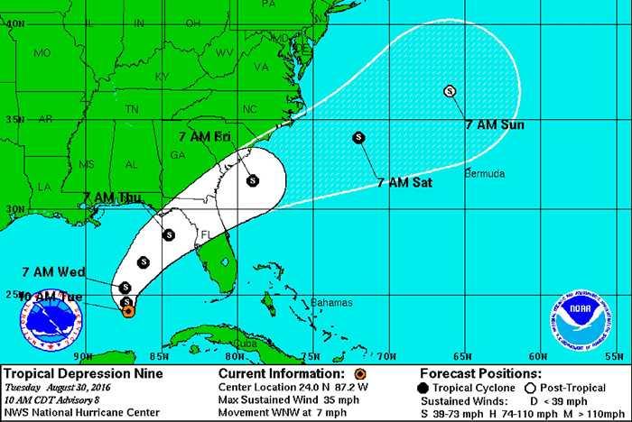 Tropical Depression NINE
