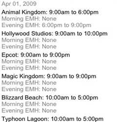 Operating Hours and Extra Magic Hours now available on WDWMAGIC Mobile