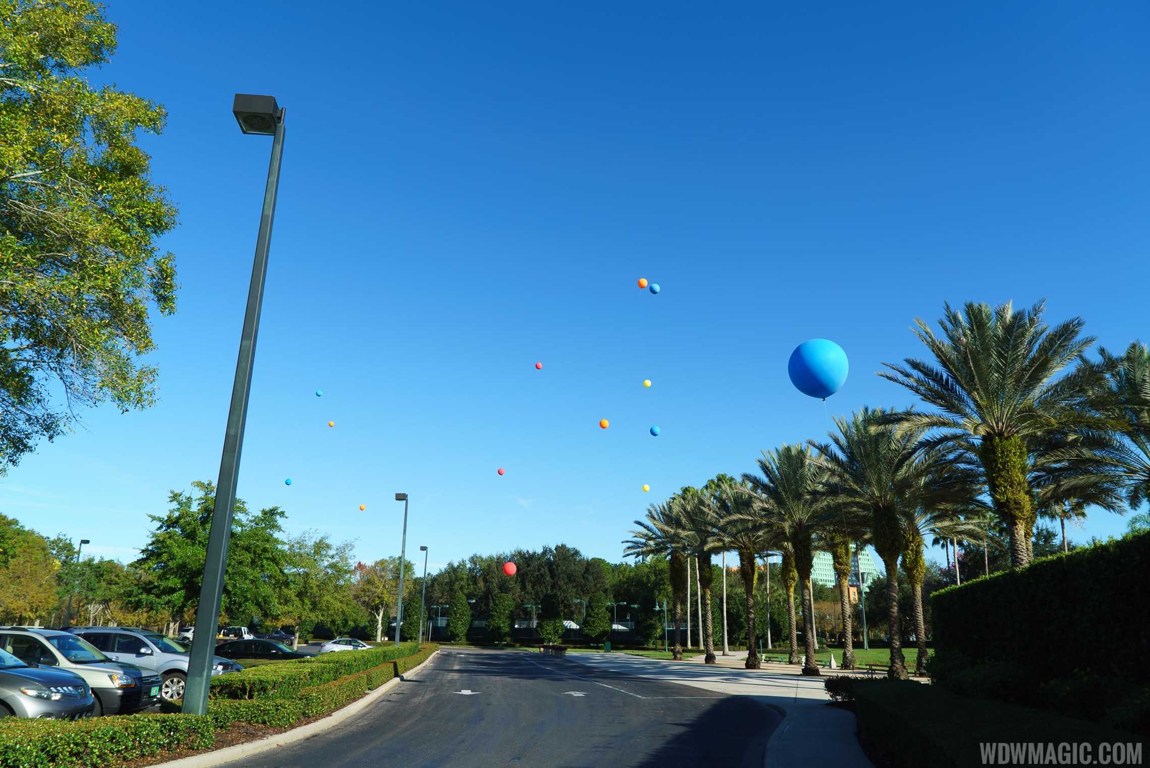 Height test balloons near the Fantasia Gardens mini-golf for a previous non-related project