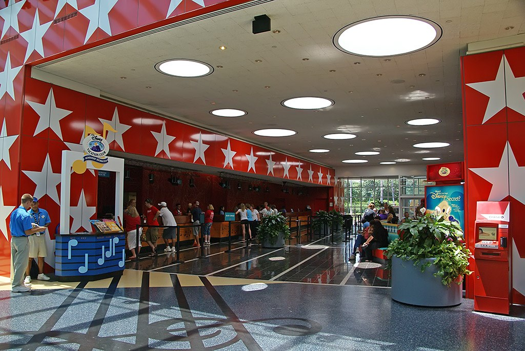 All Star Music Resort - Melody Hall lobby and food court