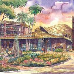 Disney Animal Kingdom Villas concept art