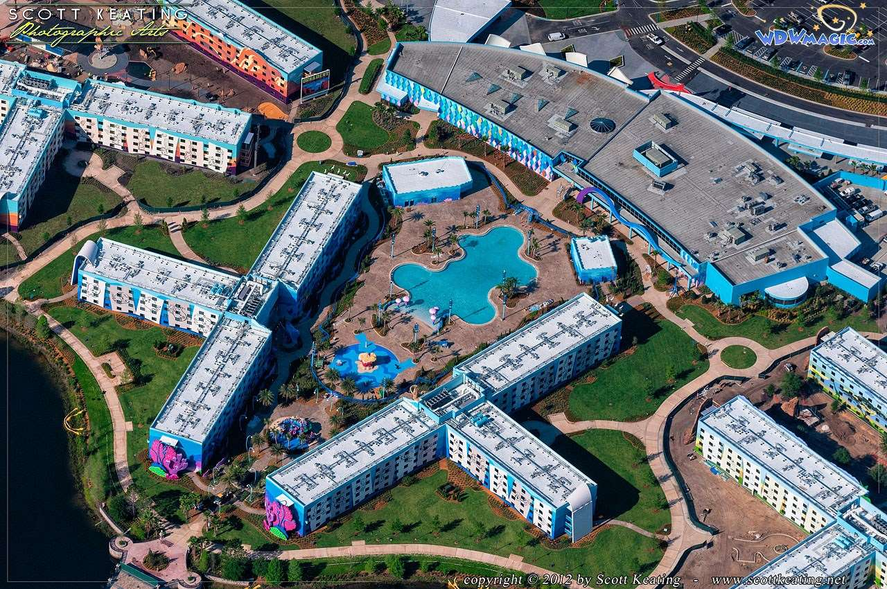PHOTOS  Aerial views of Disneys Art of Animation Resort