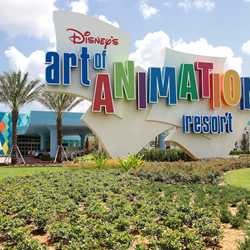 Disney's Art of Animation - Entrance, bus stops, Animation Hall