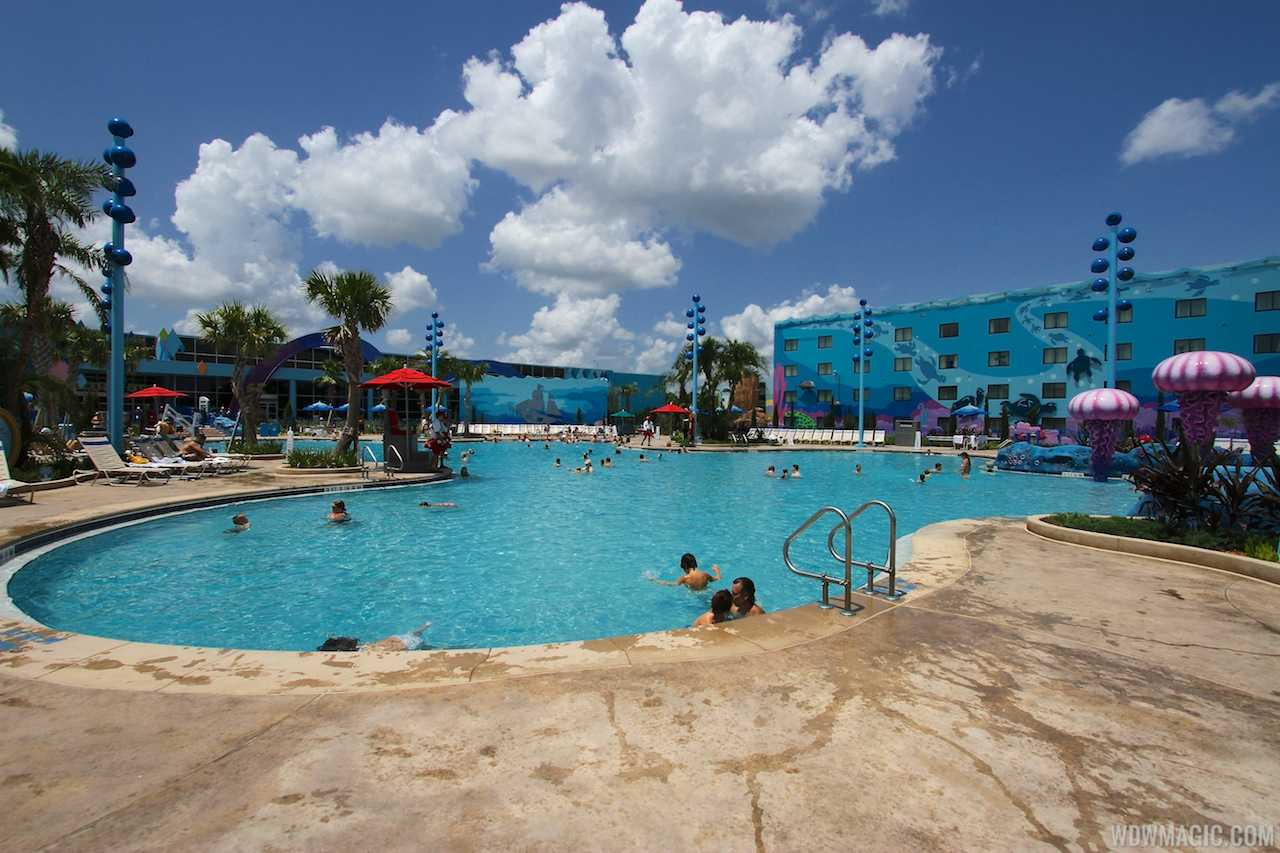 The Big Blue Pool in the Finding Nemo section of Disney's Art of Animation Resort