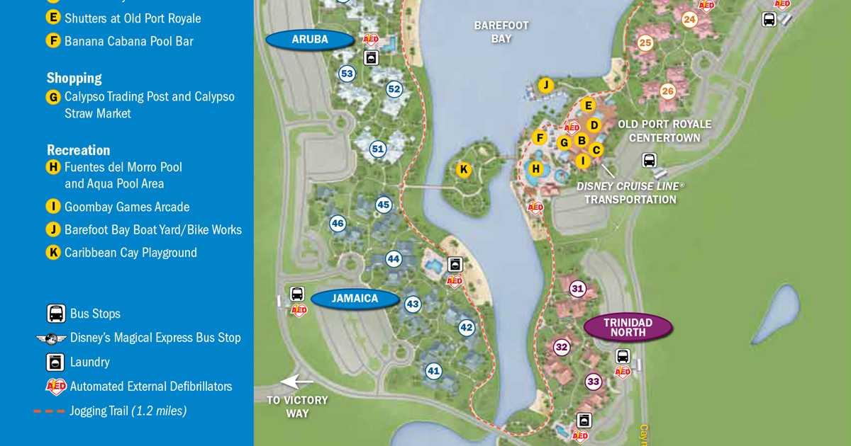 2013 Caribbean Beach Resort guide map  Photo 1 of 6