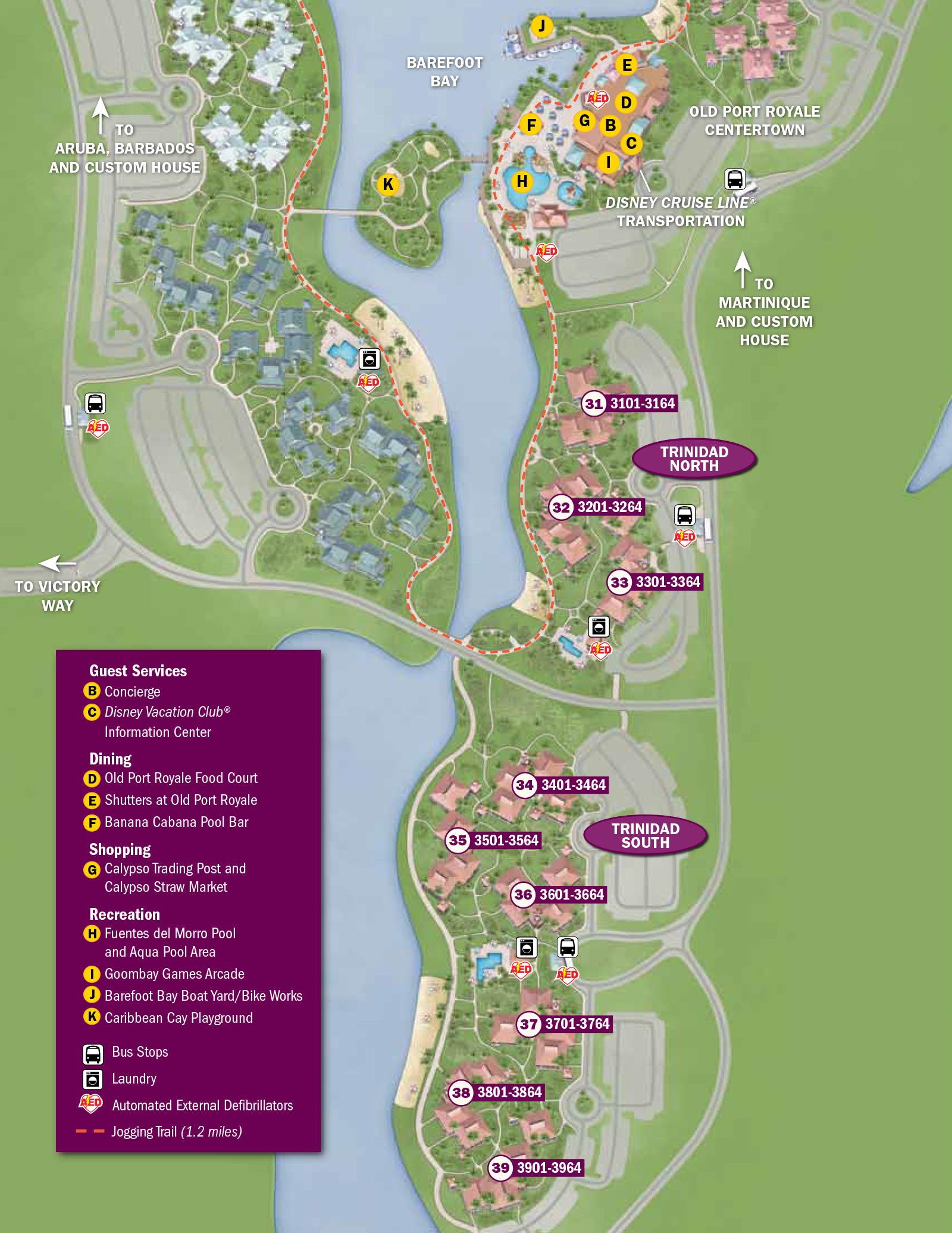 2013 Caribbean Beach Resort guide map  Photo 6 of 6