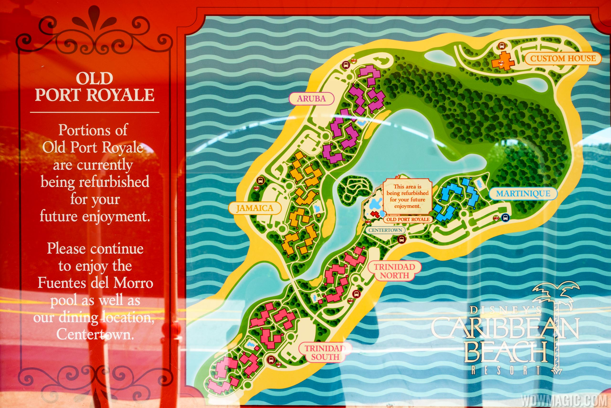 Old Port Royale closed and temporary dining at Disneys Caribbean