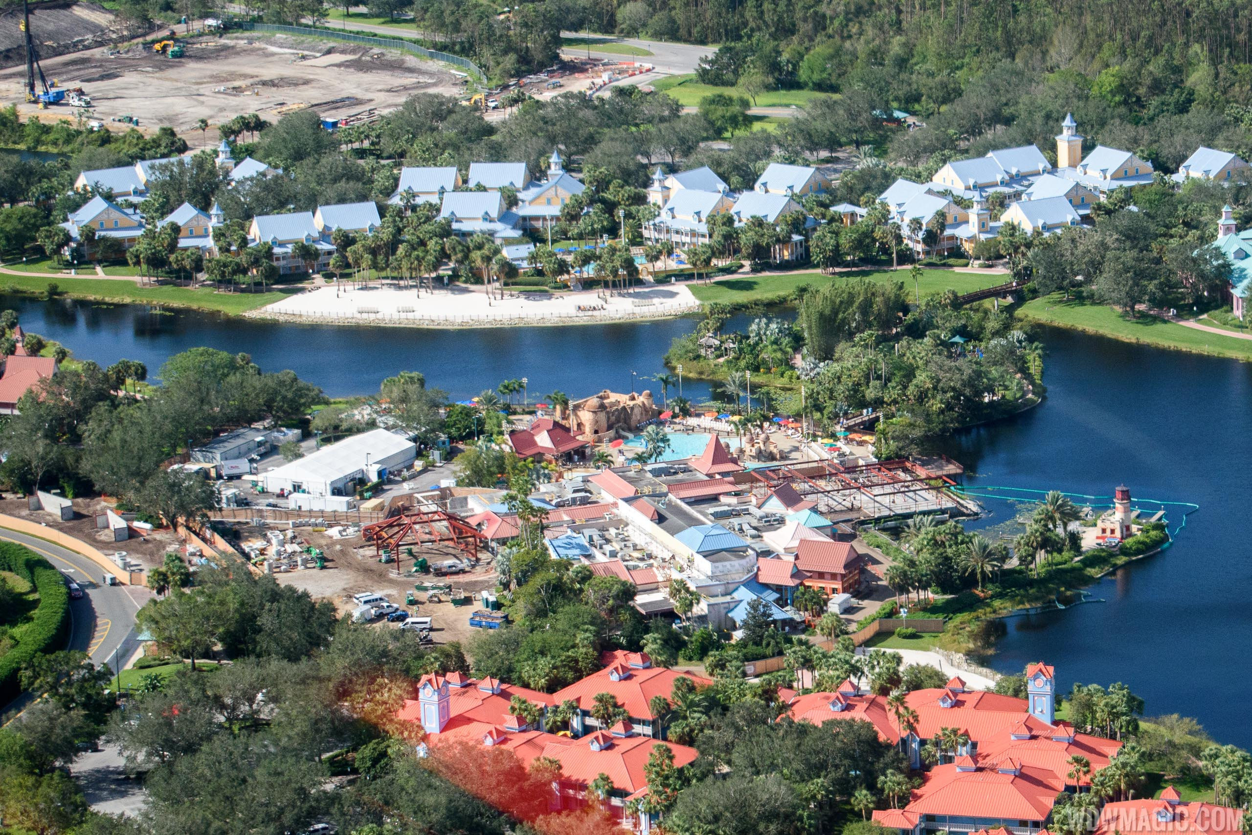 Disney S Caribbean Beach Resort Construction