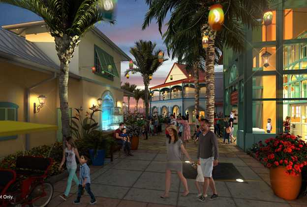 Concept art for new look Caribbean Beach Resort