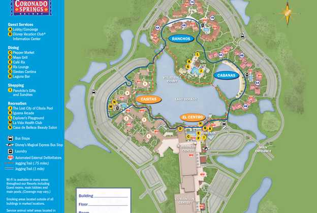 2013 Coronado Springs guide map